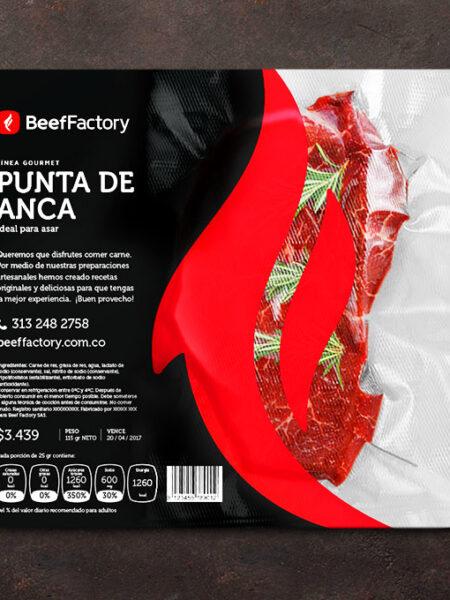 Identidad de marca. Empaque diseño para carne gourmet