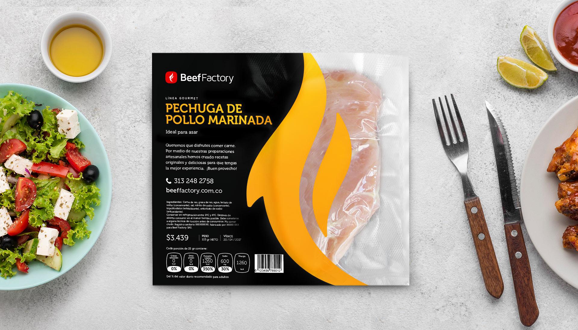 Beef Factory empaque pollo al vacío receta gourmet