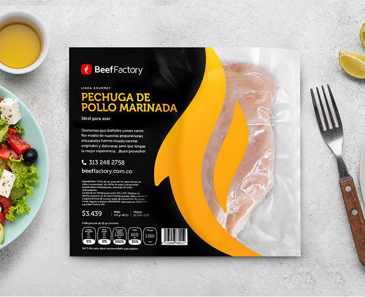 Mr Branding Beef Factory diseño de marca empaque gourmet