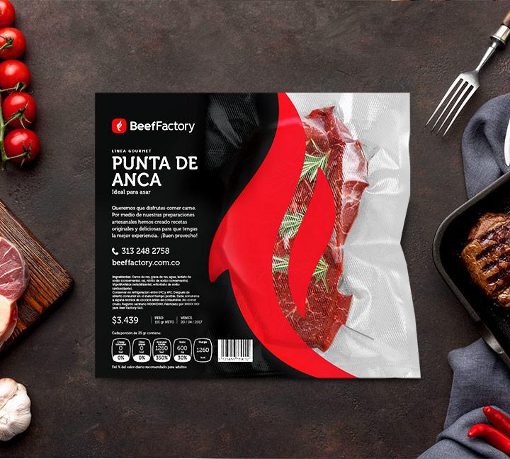 Mr Branding Beef Factory empaque gourmet